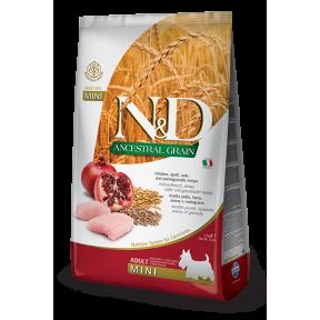 Сухой корм для собак Farmina N&D Ancestral Grain низкозерновой, с курицей, спельтой, с овсом и с гранатом (для мелких пород) 800 г
