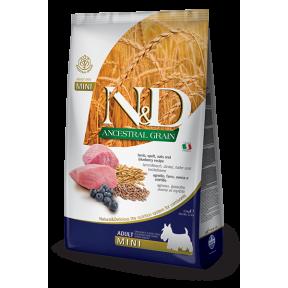 Сухой корм для собак Farmina N&D Ancestral Grain низкозерновой, с ягненком, спельтой, с овсом и с черникой (для мелких пород) 2.5 кг