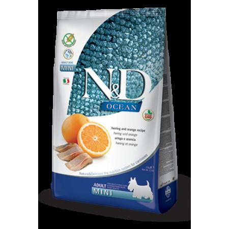 Сухой корм для собак Farmina N&D Ocean беззерновой, с сельдью, с апельсином (для мелких пород) 2.5 кг