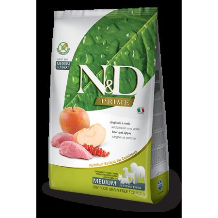 Сухой корм для собак Farmina N&D Prime беззерновой, с кабаном, с яблоком (для крупных и средних пород) 2.5 кг
