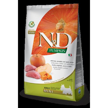 Сухой корм для собак Farmina N&D Pumpkin беззерновой, с кабаном, с тыквой, с яблоком (для мелких пород) 7 кг