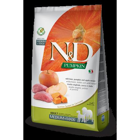 Сухой корм для собак Farmina N&D Pumpkin беззерновой, с кабаном, с тыквой, с яблоком (для средних и крупных пород) 12 кг