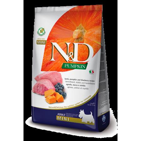 Сухой корм для собак Farmina N&D Pumpkin беззерновой, с ягненком, с тыквой, с черникой (для мелких пород) 2.5 кг