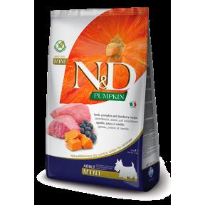 Сухой корм для собак Farmina N&D Pumpkin беззерновой, с ягненком, с тыквой, с черникой (для мелких пород) 7 кг