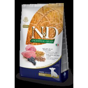 Сухой корм для щенков Farmina N&D Ancestral Grain низкозерновой, с ягненком, спельтой, с овсом и с черникой (для мелких пород) 800 г