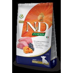 Сухой корм для щенков Farmina N&D Pumpkin беззерновой, с ягненком, с тыквой, с черникой (для мелких пород) 800 г
