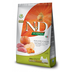 Сухой корм для собак Farmina N&D Pumpkin беззерновой, с кабаном, с тыквой, с яблоком (для мелких пород) 2.5 кг