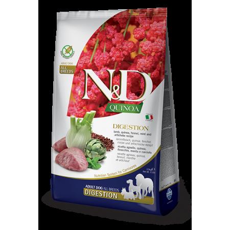 Сухой корм для собак Farmina N&D Quinoa беззерновой, при чувствительном пищеварении, с ягненком, с киноа, с фенхелем, с мятой, с артишоком 7 кг