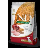 Сухой корм для щенков Farmina N&D Ancestral Grain низкозерновой, с курицей, спельтой, с овсом и с гранатом (для мелких пород) 800 г