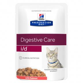 Влажный диетический корм для кошек Hill's Prescription Diet Digestive Care i/d при проблемах с ЖКТ, с лососем (кусочки в соусе) 85 г
