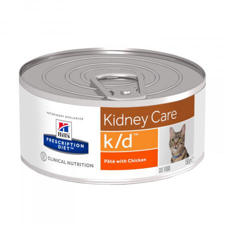 Влажный диетический корм для кошек Hill's Prescription Diet Kidney Care k/d при проблемах с почками, с курицей 156 г