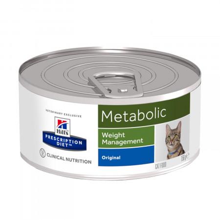Влажный диетический корм для кошек Hill's Prescription Diet Metabolic Weight Management Original при избыточном весе (паштет) 156 г