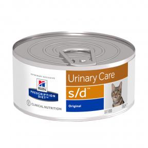 Влажный диетический корм для кошек Hill's Prescription Diet Urinary Care s/d Original для лечения МКБ, для растворения струвитных уролитов, с курицей 156 г
