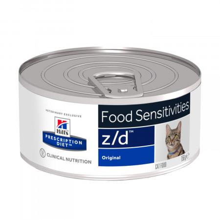 Влажный диетический корм для кошек Hill's Prescription Diet z/d Food Sensitivities при аллергии 156 г