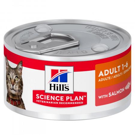 Влажный корм для кошек Hill's Science Plan, с лососем 82 г