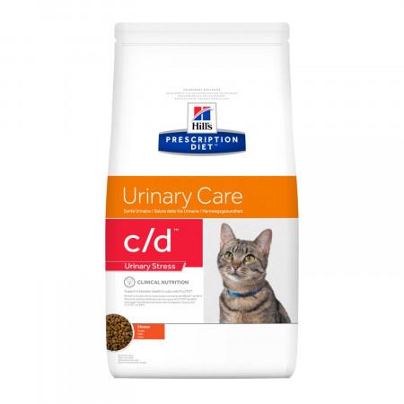 Сухой диетический корм для кошек Hill's Prescription Diet c/d Urinary Care Urinary Stress при идиопатическом цистите, при стрессе, с курицей 1.5 кг