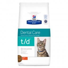 Сухой диетический корм для кошек Hill's Prescription Diet Dental Care t/d при заболеваниях ротовой полости, с курицей 1.5 кг