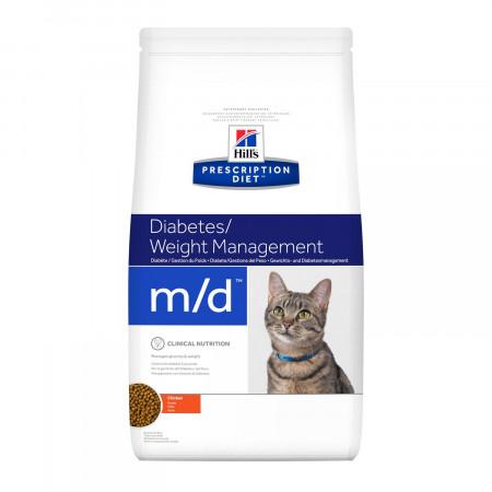 Сухой диетический корм для кошек Hill's Prescription Diet Diabetes Weight Management m/d при сахарном диабете, с курицей 1.5 кг