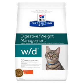 Сухой диетический корм для кошек Hill's Prescription Diet Digestive/Weight Managemant w/d при проблемах с ЖКТ, при избыточном весе, с курицей 1.5 кг