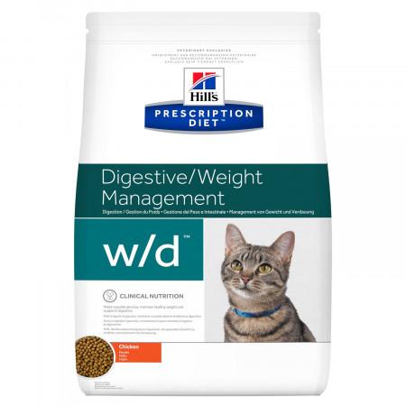 Сухой диетический корм для кошек Hill's Prescription Diet Digestive/Weight Managemant w/d при проблемах с ЖКТ, при избыточном весе, с курицей 5 кг