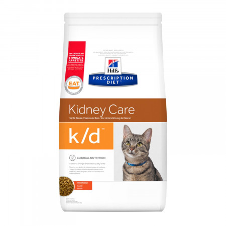 Сухой диетический корм для кошек Hill's Prescription Diet Kidney Care k/d при проблемах с почками, с курицей 5 кг