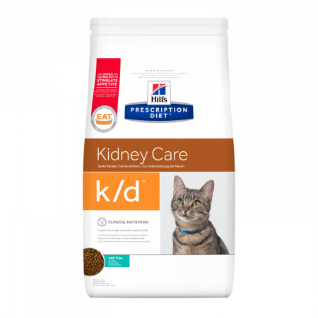 Сухой диетический корм для кошек Hill's Prescription Diet Kidney Care k/d при проблемах с почками, с тунцом 400 г