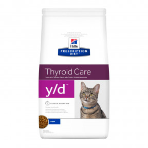 Сухой диетический корм для кошек Hill's Prescription Diet Thyroid Care y/d при проблемах щитовидной железы 1.5 кг