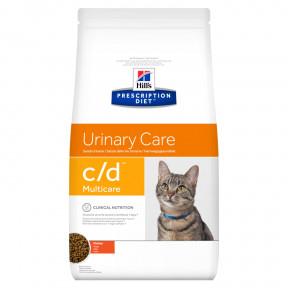 Сухой диетический корм для кошек Hill's Prescription Diet Urinary Care c/d Multicare для профилактики МКБ, с курицей 1.5 кг