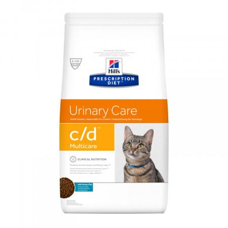 Сухой диетический корм для кошек Hill's Prescription Diet Urinary Care c/d Multicare для профилактики МКБ, с океанической рыбой 1.5 кг