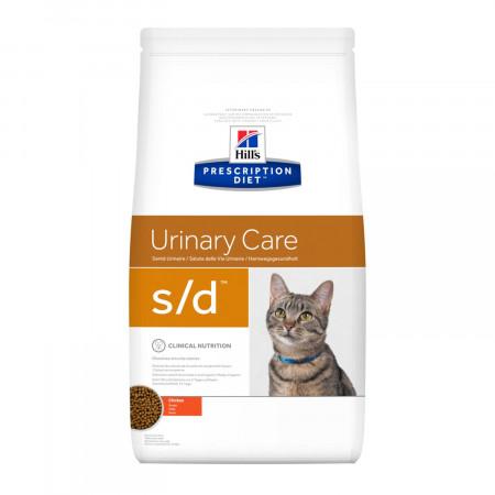 Сухой диетический корм для кошек Hill's Prescription Diet Urinary Care s/d для лечения МКБ, для растворения струвитных уролитов, с курицей 5 кг