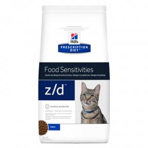 Сухой диетический корм для кошек Hill's Prescription Diet z/d Food Sensitivities при аллергии 2 кг