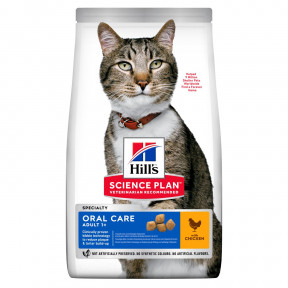 Сухой корм для кошек Hill's Science Plan Oral Care для ухода за полостью рта, с курицей 1.5 кг