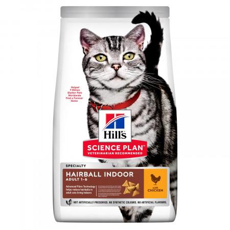 Сухой корм для кошек, живущих в помещении Hill's Science Plan Hairball Indoor, для вывода шерсти, с курицей 1.5 кг
