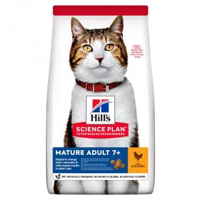 Сухой корм для пожилых кошек Hill's Science Plan, с курицей 1.5 кг