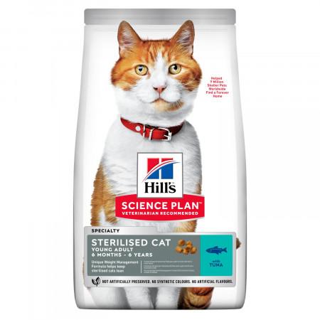 Сухой корм для стерилизованных кошек Hill's Science Plan, с тунцом 3 кг