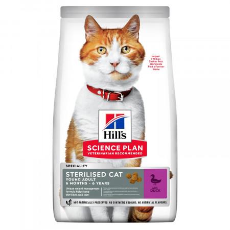 Сухой корм для стерилизованных кошек Hill's Science Plan, с уткой 1.5 кг