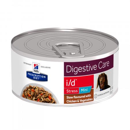 Диетический корм для собак Hill's Prescription Diet Digestive Care i/d Stress при болезнях ЖКТ, при стрессе, рагу с курицей, рисом и овощами (для мелких пород) 156 г