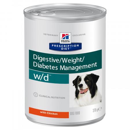 Влажный диетический корм для собак Hill's Prescription Diet Digestive/Weght/Diabetes Management w/d при сахарном диабете, при избыточном весе, с курицей 370 г