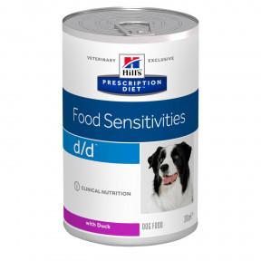 Влажный диетический корм для собак Hill's Prescription Diet Food Sensitivities d/d при дерматологических заболеваниях, при аллергии, с уткой 370 г