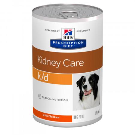 Влажный диетический корм для собак Hill's Prescription Diet Kidney Care k/d при заболеваниях почек, с курицей 370 г