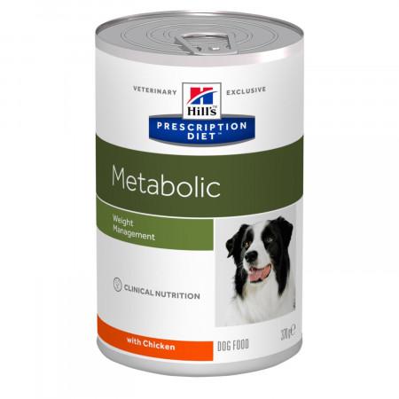 Влажный диетический корм для собак Hill's Prescription Diet Metabolic Weight Management при избыточном весе, с курицей 370 г