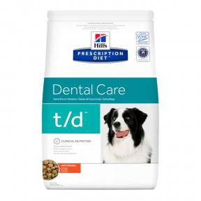 Сухой диетический корм для собак Hill's Prescription Diet Dental Care t/d при заболеваниях зубов и десен, с курицей 3 кг