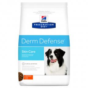 Сухой диетический корм для собак Hill's Prescription Diet Derm Defense Skin Care при дерматологических заболеваниях, с курицей 12 кг