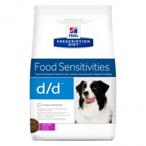 Сухой диетический корм для собак Hill's Prescription Diet Food Sensitivities d/d при дерматологических заболеваниях, при аллергии, утка с рисом 12 кг