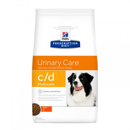 Сухой диетический корм для собак Hill's Prescription Diet Urinary Care c/d Multicare при мочекаменной болезни, при струвитах, с курицей 12 кг