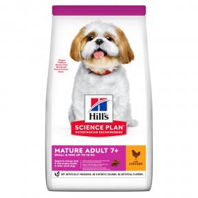 Сухой корм для пожилых собак Hill's Science Plan, с курицей (для мелких пород) 1.5 кг