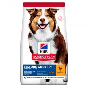 Сухой корм для пожилых собак Hill's Science Plan, с курицей (для средних пород) 12 кг