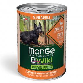 Влажный корм для собак Monge BWild беззерновой, с уткой с тыквой и с цукини для мелких пород 400 г