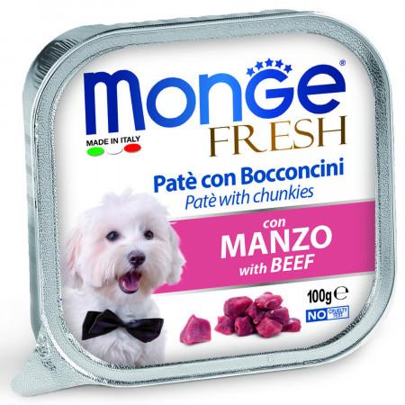 Влажный корм для собак Monge Fresh с говядиной 100 г