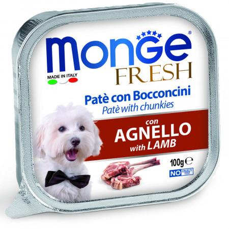 Влажный корм для собак Monge Fresh с ягненком 100 г